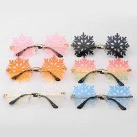النظارات الشمسية 2021 الأزياء بدون شفة النساء ندفة الثلج نظارات العين للرجال Steampunk جوفاء حزب المجوهرات