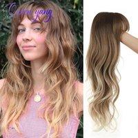 Perruque Synthetic Wigs QYZ Big Wave Perruque avec franges Color Couleur Dégimal Mat Température Soie haute température pour une utilisation quotidienne respirante confortable