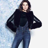 Casacos femininos inverno para mulheres curtas preto falso couro bicicleta jaqueta falso colar de pele manga quente lazer mulher casaco mantoau femme1