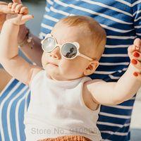 2021 Moda Redondo Niños Gafas de Sol Bear Forma Gafas Sol Bebé Niños UV400 Sport Goggle Girls Boys Oculos De Sol Gafas al Por Mayor