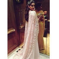 abulous Lace Stretch Satin High Collar Saudi Arabia Style Evening Dresses with Long Wrap Champagne Prom Gowns vestidos