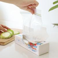 Sacs de rangement réutilisables Sac de fermeture à glissière fraîche congélation Chauffage Food Saran Wrap Plastic Ménage Cuisine Accessoires