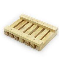 Натуральные бамбуковые деревянные мыльные блюда плиты Держатель для лотка коробка для душа для душа ручная моющаяся мыть держатель 2 цвета 176 S2