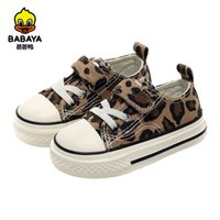 Babaya Baby Girl Shoes Autumn Low-cut Leopard Pattern Fashion Wild children Girls Baby Casual Canvas Shoes 1-3 Years Old 210312