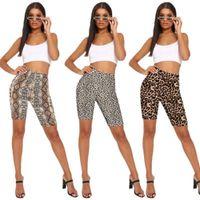 Corbata teñida leopardo estampado americano bandera pantalones pantalones cortos montando leggings