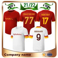 21/22 Pellegrini El Shaarawy Soccer Jersey 2021 Roma Shomurodov Totti Pedro Veretout Zaniolo Maillots de pé Camiseta Kumbulla Mancini Roma Futebol Uniformes