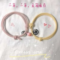 Magnets attract each other rubber band to give boyfriend couple Bracelet small leather case a pair of best friend students hand rope