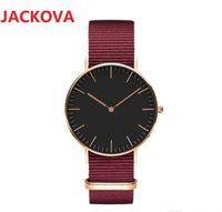 Fashion loves' mens women watches leather nylon strap wristwatches 40mm 36mm quartz watch for men womens ladies Valentine gift