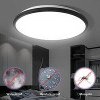 천장 조명 라운드 LED 수분 증명 램프 방수 12W 18W 24W 36W 욕실 야외 정원 마당 현대 벽 빛