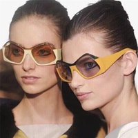 Imixlot Личность Негабаритные многоугольники Солнцезащитные очки квадратный Бренд Дизайнер Винтажные Женщины Творческие Очки UV400