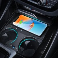 Suitable FOR BMW X3 X4 2019 2020 car QI wireless charger charging plate mobile phone holder accessories