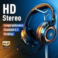 Yc-a2 wireless video game headset, stereo headset with cable microphone, laptop, PS4, one, gamer, V5.1