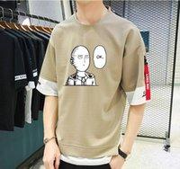 Männer T-shirts Japan Anime One Punch Man T-shirt Unisex Casual Summer Kurze Ärmel Teenager Cosplay Cartoon Tees Tops