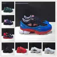 [Com caixa]Adidas Raf Simons Ozweego 3.0 shoes  2 sneekers RAF Simons Snaper Sapateiro Ozweego Homens Mulheres Mulheres em Prata Efeito Metálico Sola RS Sport Trainer S2
