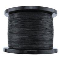 Forte linea di pesca 8 treccia super PE 8 fili intrecciata linea di pesca 8-300lbs 0.12mm 0.20 0.23 0.26 0.5 0.63 0.75 0.8 1.0mm nero