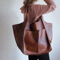 Evening Bags Women's Large PU Leather Satchel Handbag Work Tote Shoulder Purse Soft Crossbody Oversized Bag Female Bolsa Feminina Sac