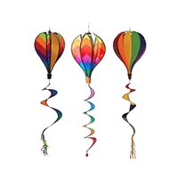rainbow Windsock الهواء الساخن بالون حديقة الديكور الخارجي ساحة الحدث حزب diy اللون الرياح المغازل الملونة الحركية شنقا تزيين