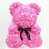 PE Plastica Fiori artificiali Rose Bear Bear Multicolor Schiuma Rose Flower Teddy Bear Valentino Giorno Giorno Regalo Compleanno Party Decorazione primavera 216 S2