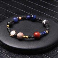 Branelli di pietra naturale 7 braccialetto di chakra per le donne uomini yoga budhha preghiera bilancio perline braccialetto reiki gioielli unisex drop shipping