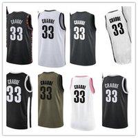 Пользовательские чистые отпускное имя № 33 Allen Crabbe белый черный зеленый коричневый баскетбол Джерси мужские женские молодежные майки
