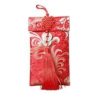 Envoltura de regalo 6pcs paquetes rojos del dinero del envío del festival de primavera de los deseos del año de la boda china