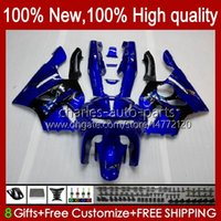 Fairings For KAWASAKI NINJA ZX 6R 636 600CC 600 CC ZX-636 ZX6R 94 95 96 97 Bodywork 50HC.28 ZX636 ZX-6R 94-97 ZX600C ZX600 ZX 6 R 1994 1995 1996 1997 Bodys kit blue west blk