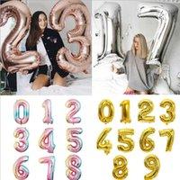 32 дюйма Большой Номер Фольга Воздушные шары Рисунок Digit С Днем Рождения Вечеринка Свадебные Украшения Детские Игрушки Гелиевые Глобос Оптом Воздушный шар