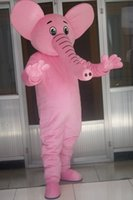 Real Picture Pink Elephant Mascot Kostym Fancy Dress för Halloween Carnival Party Support Anpassning