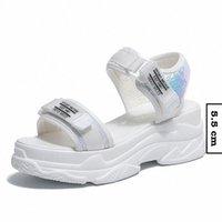 Fujin Verano Mujer Sandalias Sandalias Hebilla Diseño Negro Blanco Plataforma Sandalias Cómodas Mujeres Grueso Sole Sole Beach Zapatos Para Hombre Mocasines Formal Sho R0uu #