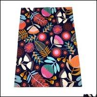 Textiles Home & Gardencustom Cotton Tea Towel Digital Printing Placemat Thermal Insation Coaster Personalized Fl-Print Provide Design Draft