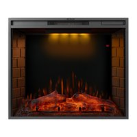 Electric Fireplace 30 inch LED Recessed Home Heaters with 3 Top Light Colors, Remote Control and Touch Screen 1500W, Black