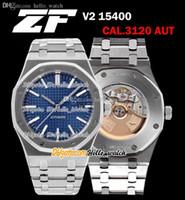 ZFF 41mm V2 15400 Ultra Tunna 9.8mm Dyk Cal.3120 Automatisk Mens Watch Blue Texture Dial Stick Markör 316L Stålarmband Klockor Hello_Watch