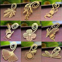 Nouveau mariage Gold Bookmark Feather Olive Ginkgo Métal Paragraphie Creative Signets