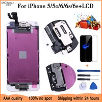 Complete LCD Or Full Assembly Display or Screen for iPhone 5s 5c 6s plus or for iphone 6 6s with Home Button and Front Camera