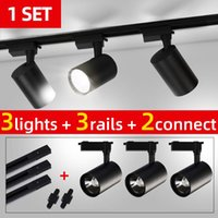 Track Lights Whole Set Led Light COB Lamp 20W 30W 40W Rail Lighting Aluminum Spot Fixtures For Home Kitchen Clothing Shop