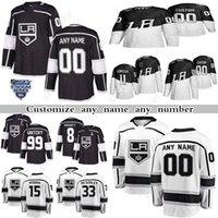 Custom Los Angeles Kings Hockey Jerseys 99 Wayne Gretzky 32 Jonathan Quick 11 Ance Kopitar 13 Gabriel Vilardi Cualquier número y nombre