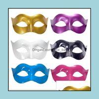 Оборудование Tactical Gear7 Цвета Мужчины Необработанные платье Венецианские маскарады маски пластиковые половинные лица маска для лица Halloween Party Bar Cosplay Zorro Drop Deli