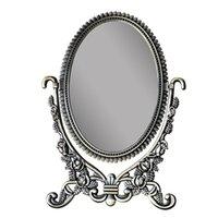 Espelhos compactos vintage europeu oval de frente e verso clássico rosa escultura aristocrática maquiagem espelho beleza desktop backlit