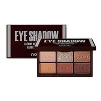 Novo Chocolate Eyeshadow Palettes 6 Color Eye Shadow для начинающих легко носить мерцание Matte Coloris Cosmetics Makeup Palette