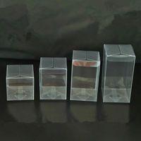 50pcs PVC trasparente trasparente scatola di caramelle regali regali di compleanno matrimonio bombarda titolare cioccolato cabdy scatole evento dolce dragee sacchetti di caramelle