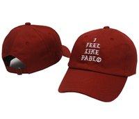 Marchio occidentale Kanye Mi sento come Pablo Fashion Golf Swag Cap Pray Palace Dad Hat Cappello da sole in cotone e uomini Baseball Cap Snapback