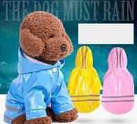 3 لون مقنعين الكلاب pu الانعكاس المعطف للماء الملبس لصغيرة الكلب يوركي الكلب المطر معطف المعطف جرو المطر سترة HHA6824