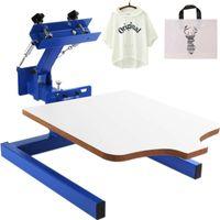 أدوات الحرفية 1 لون شاشة الطباعة الصحافة كيت محطة آلة الفرز الحرير الضغط DIY