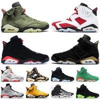 Nike air jordan 6 6s travis scott jordan retro 6 2021 venda quente sapatos de basquete carmim jumpman 6 6s travis hare quai 54 triplo negro homens mulheres retro
