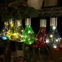 Лампочки Солнечная энергосберегающая ламповая лампочка, висит светодиодные лампы освещения управления IP44OUTDOOR Fairy Lights для рождественских украшений