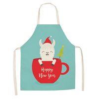 Cute Cartoon Alpaca Themed Apron Kitchen Cooking Baking for Kid Children