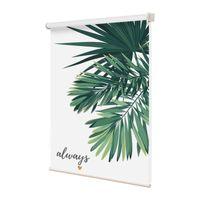 Blinds ALDOMO Printed INS Style Window Roller For Bedroom Dining Room Living Leaf Geometric Summer Flower Custom Pattern