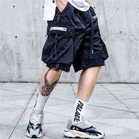 Pantalones cortos para hombre Pantalones de carga sueltos Jogger Streetwear Hip Hop Punk Sport Sweatshorts Techwear Fashion Casual Ropa 210806