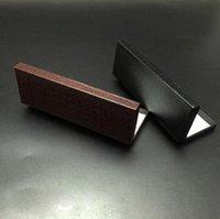 250 قطعة / الوحدة الأعمال القلم pacakging ورقة مربع أسود فليب القلم مربع بقعة تقليد بو هدية ورقة بالجملة