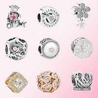 2020 Fahmi 인기있는 925 실버 로즈 러닝 하트 트리 주위에 RomanceCharm 맞는 Diy Bracelet 원래 쥬얼리 여성용